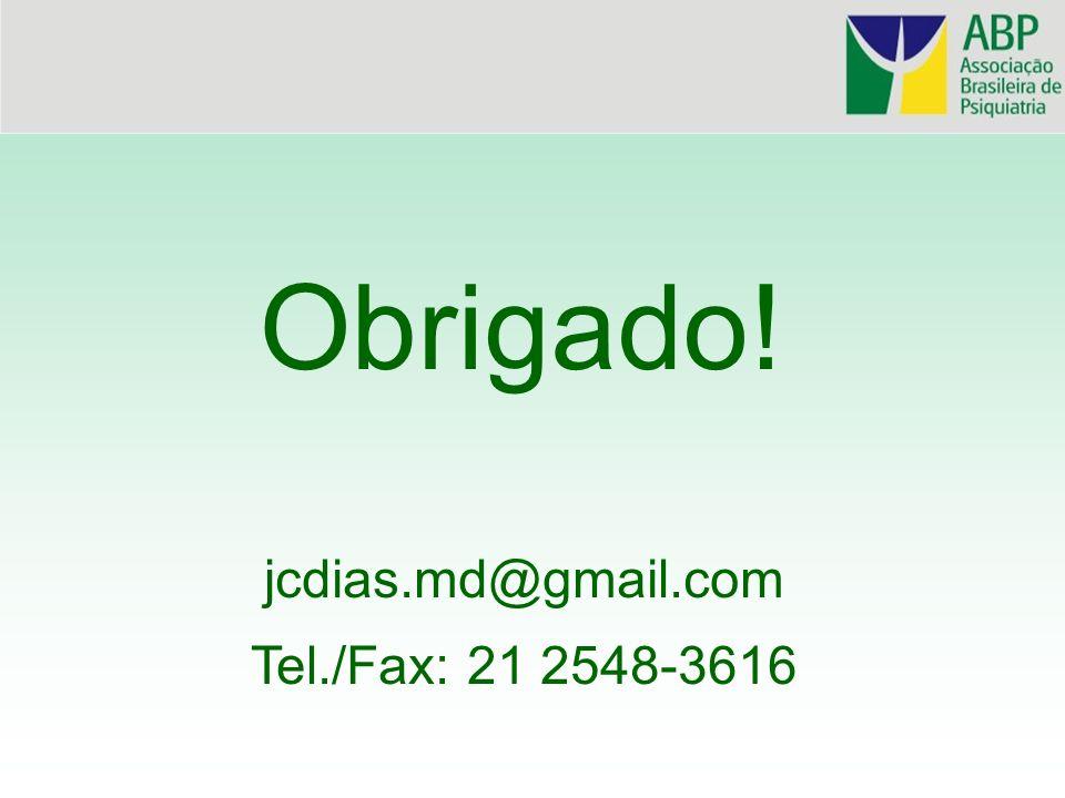 Obrigado! jcdias.md@gmail.com Tel./Fax: 21 2548-3616