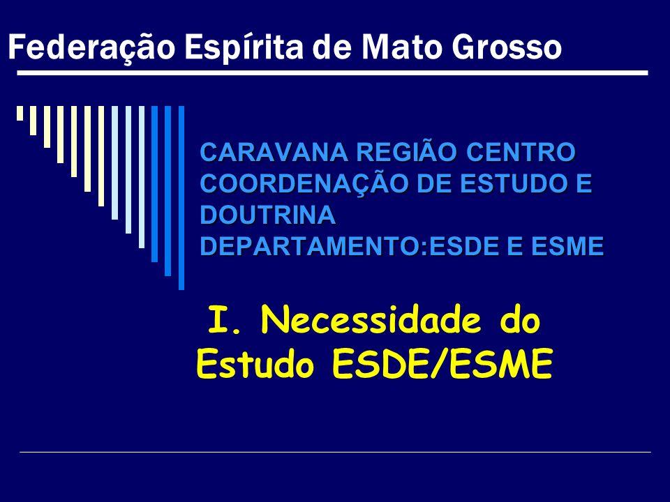 I. Necessidade do Estudo ESDE/ESME