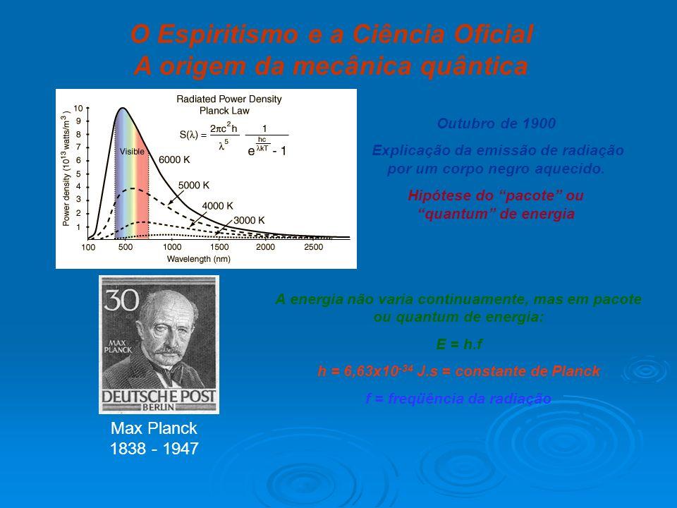 O Espiritismo e a Ciência Oficial A origem da mecânica quântica