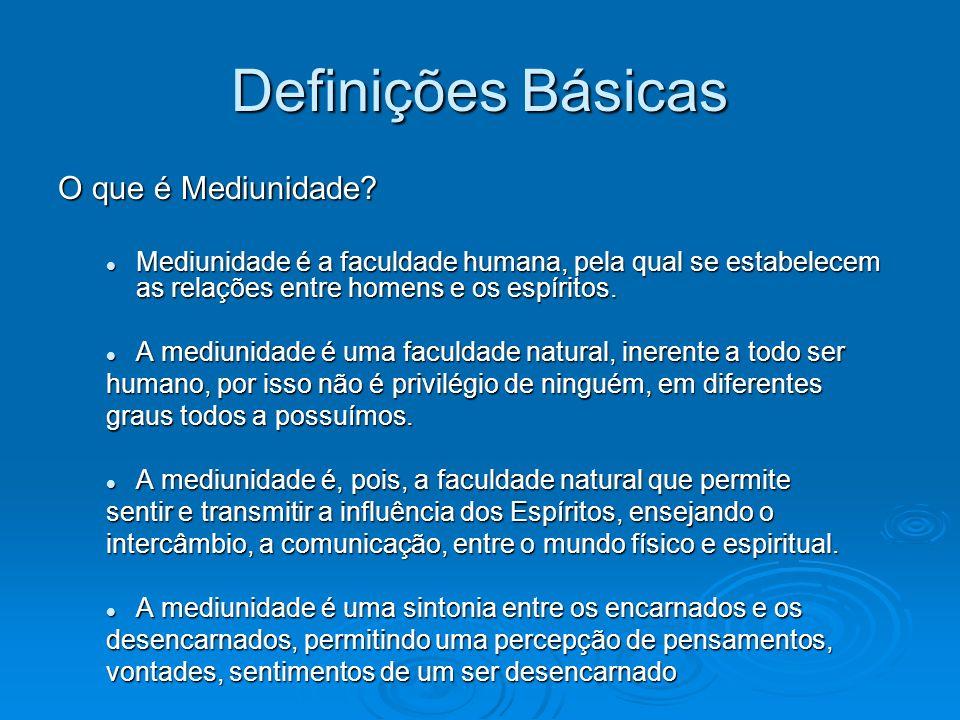 Definições Básicas O que é Mediunidade