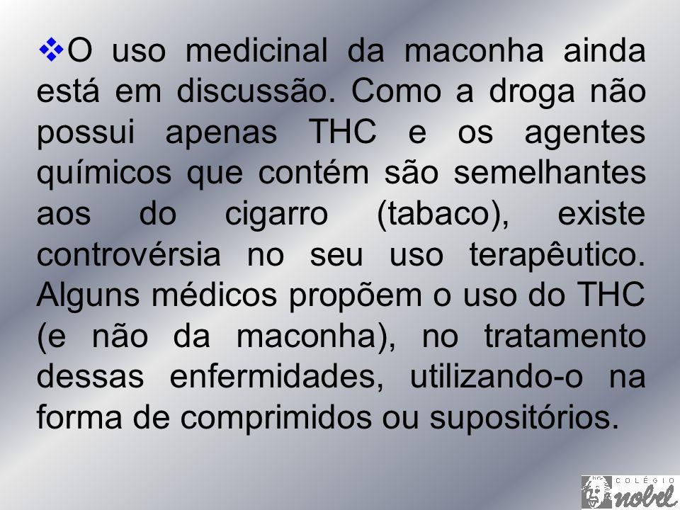 O uso medicinal da maconha ainda está em discussão
