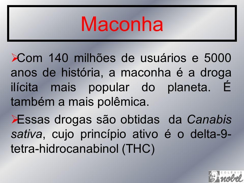 Maconha Com 140 milhões de usuários e 5000 anos de história, a maconha é a droga ilícita mais popular do planeta. É também a mais polêmica.