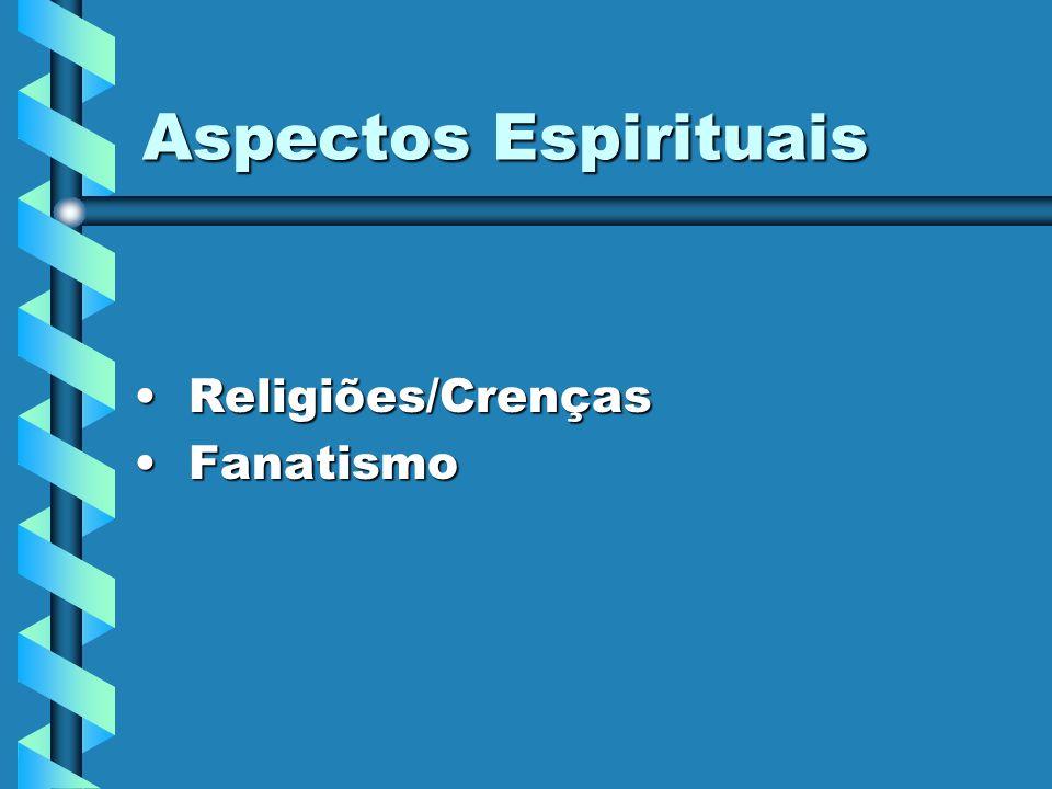 Aspectos Espirituais Religiões/Crenças Fanatismo
