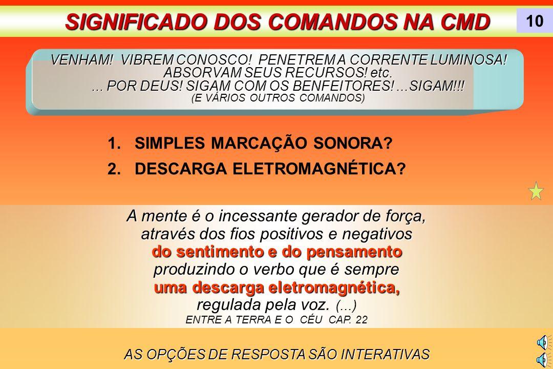 SIGNIFICADO DOS COMANDOS NA CMD