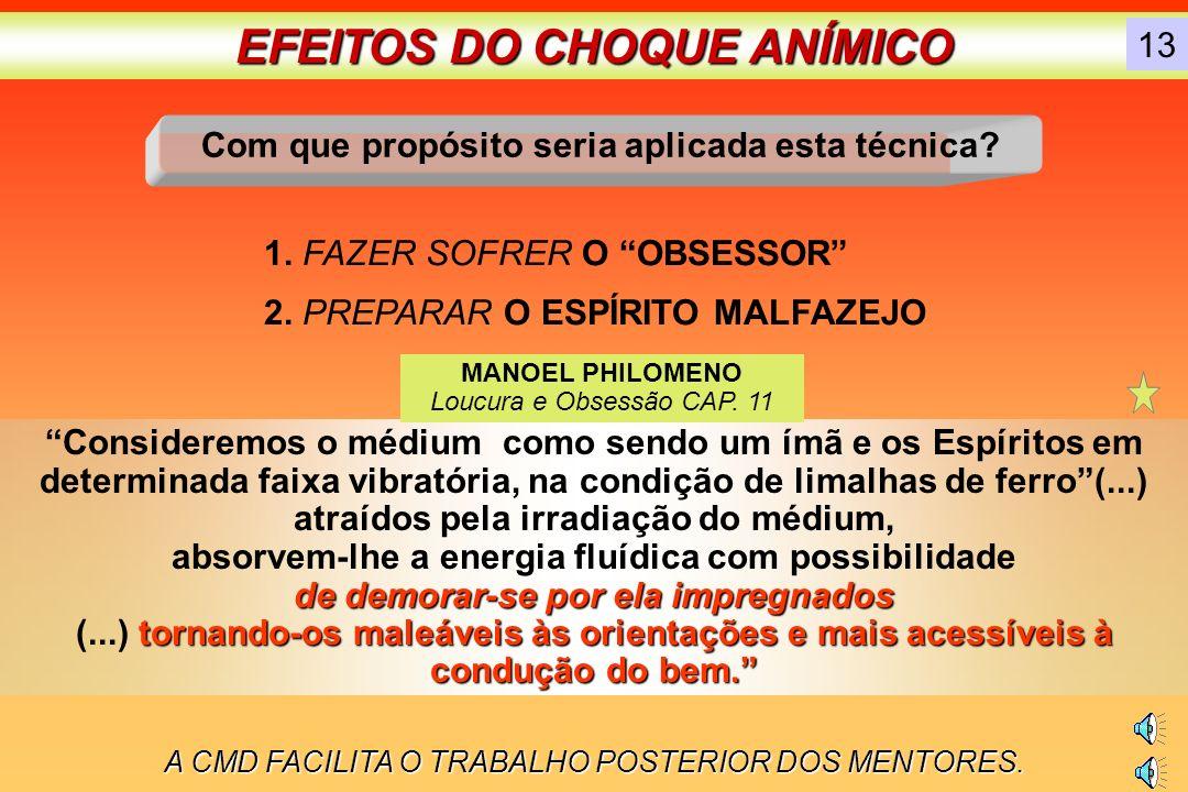 EFEITOS DO CHOQUE ANÍMICO