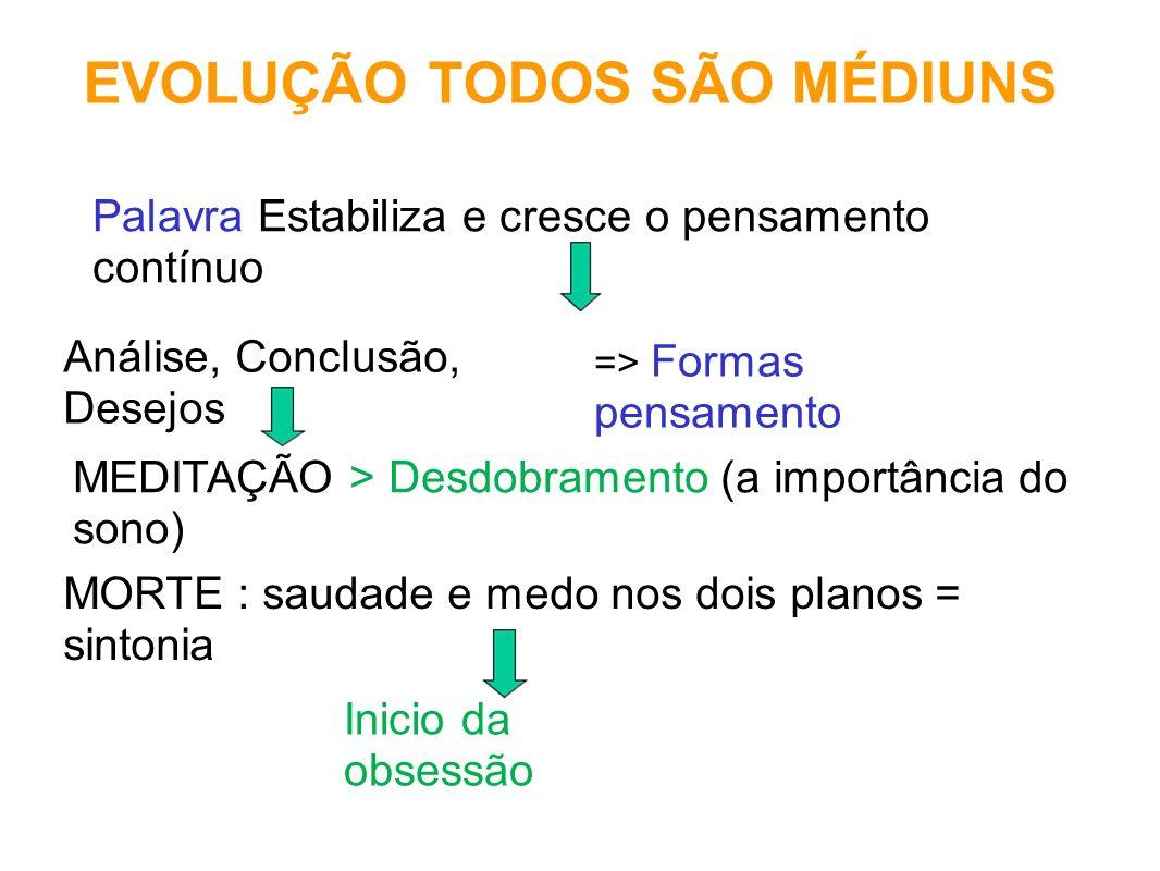 EVOLUÇÃO TODOS SÃO MÉDIUNS