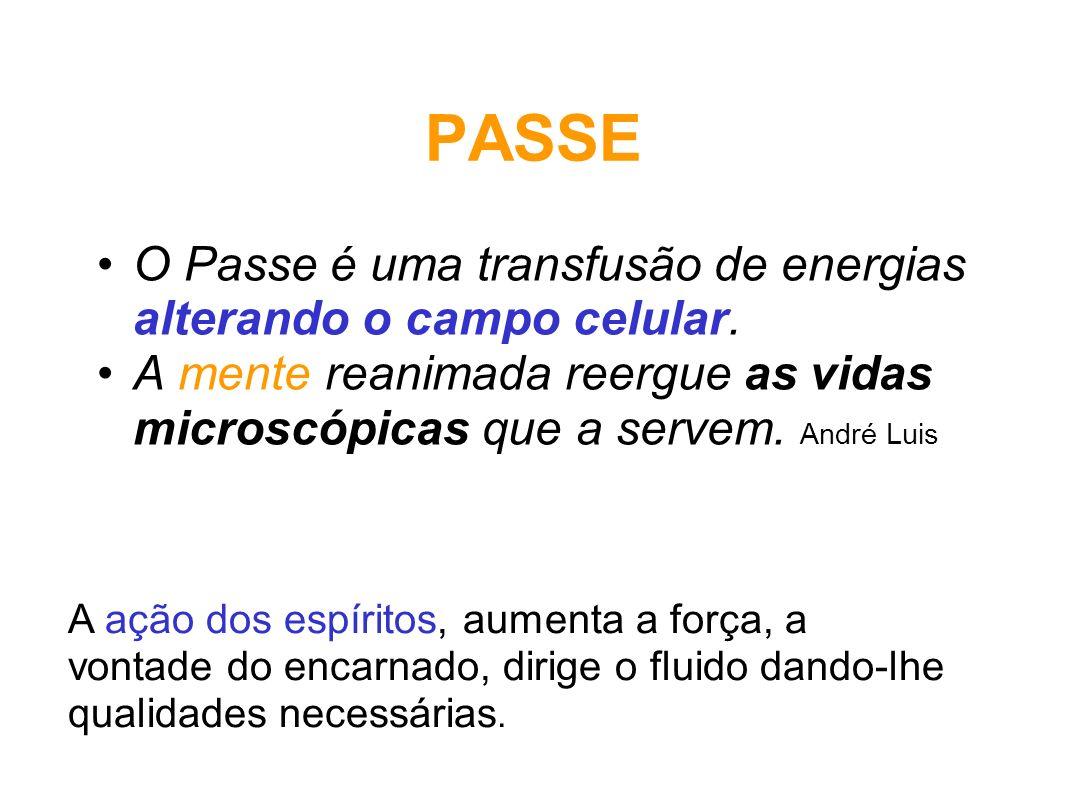 PASSE O Passe é uma transfusão de energias alterando o campo celular.