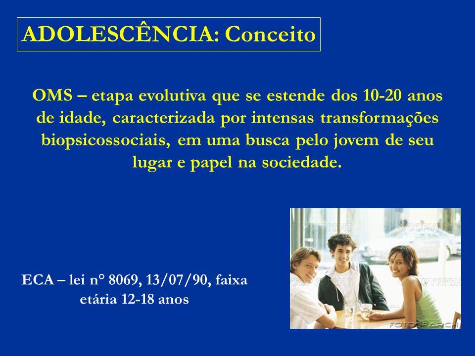 ECA – lei n° 8069, 13/07/90, faixa etária 12-18 anos