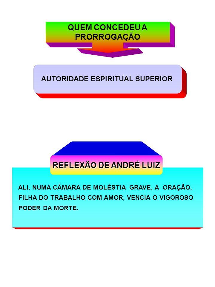 QUEM CONCEDEU A PRORROGAÇÃO REFLEXÃO DE ANDRÉ LUIZ