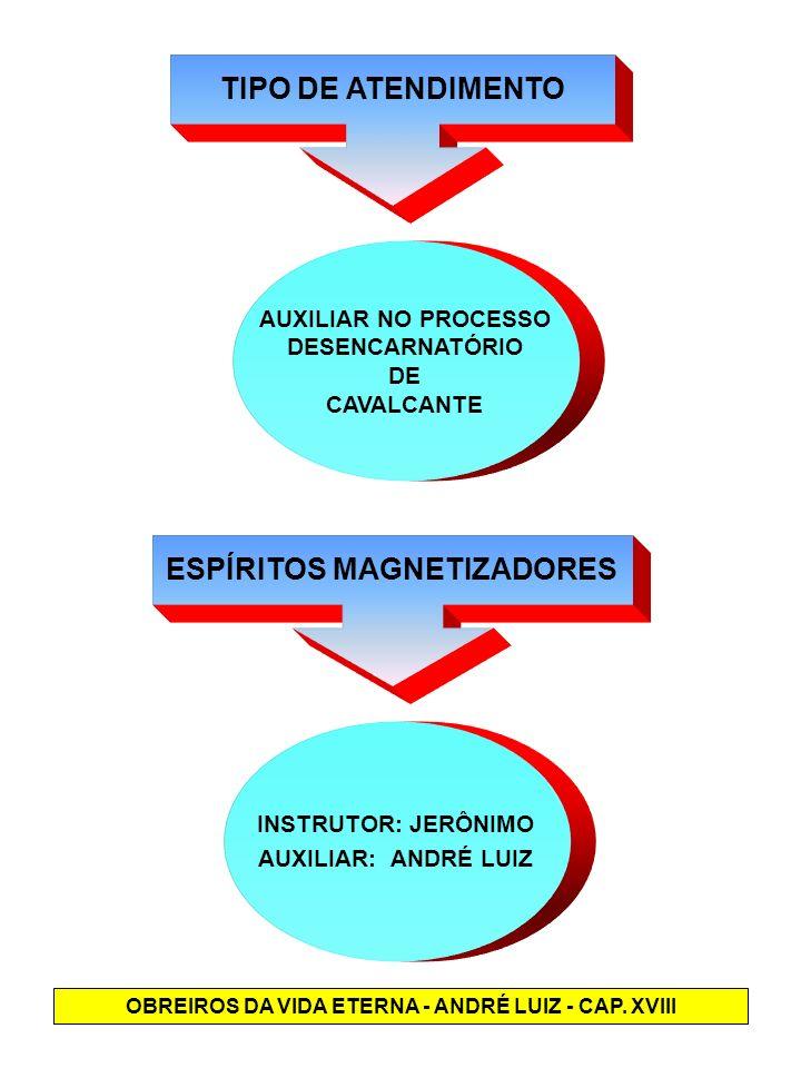 TIPO DE ATENDIMENTO ESPÍRITOS MAGNETIZADORES