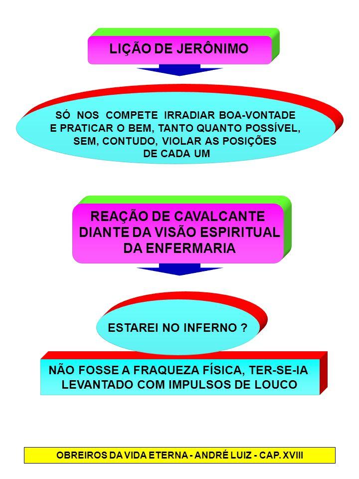 DIANTE DA VISÃO ESPIRITUAL DA ENFERMARIA