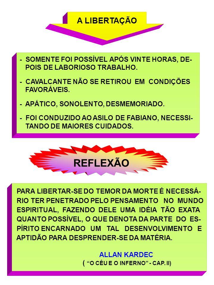 REFLEXÃO A LIBERTAÇÃO - SOMENTE FOI POSSÍVEL APÓS VINTE HORAS, DE-
