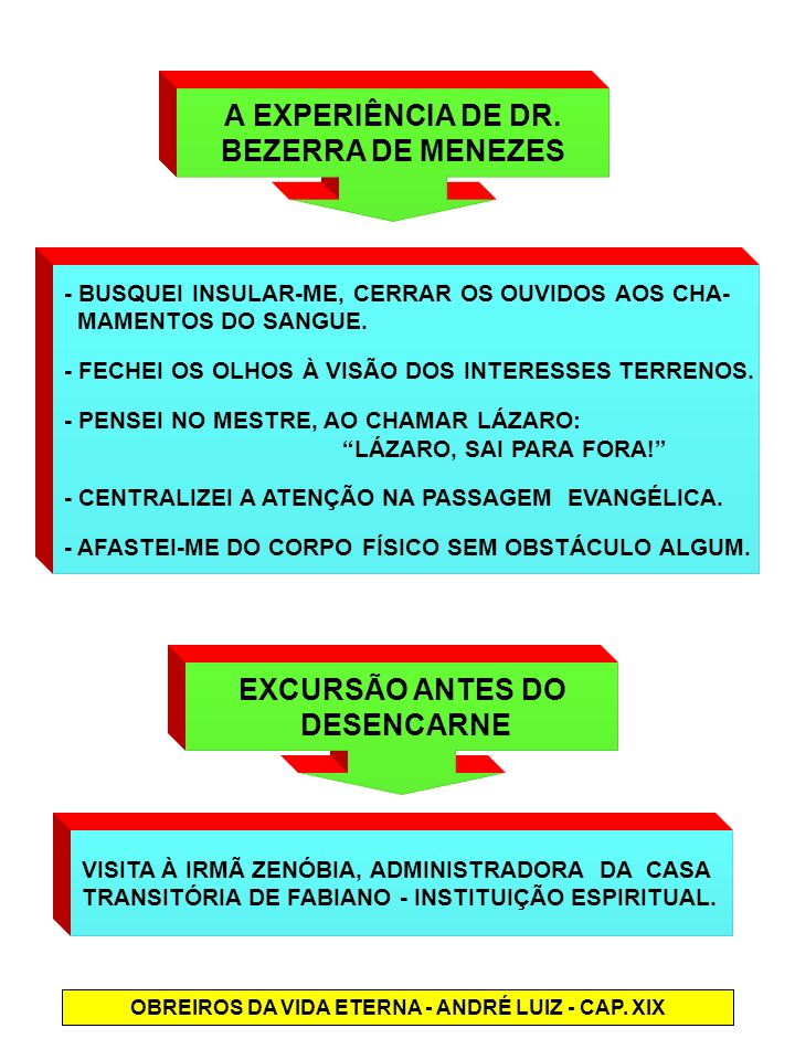 OBREIROS DA VIDA ETERNA - ANDRÉ LUIZ - CAP. XIX