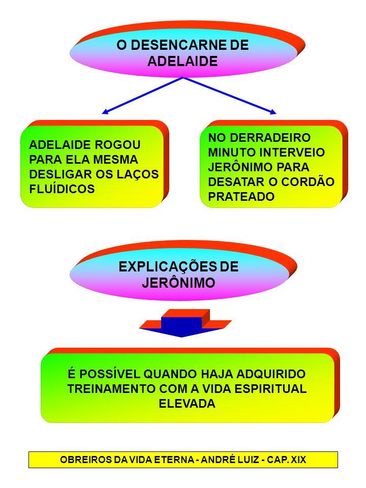 O DESENCARNE DE ADELAIDE EXPLICAÇÕES DE JERÔNIMO
