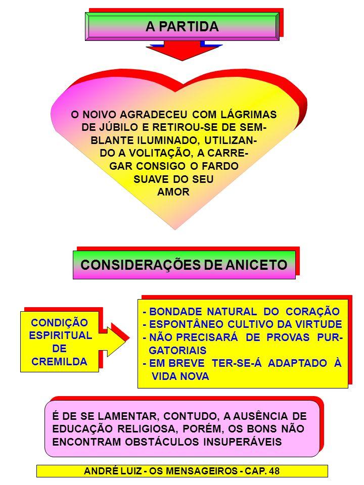A PARTIDA CONSIDERAÇÕES DE ANICETO