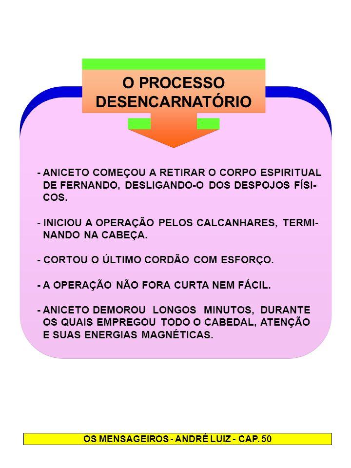 OS MENSAGEIROS - ANDRÉ LUIZ - CAP. 50