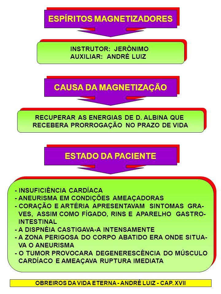 ESPÍRITOS MAGNETIZADORES CAUSA DA MAGNETIZAÇÃO ESTADO DA PACIENTE