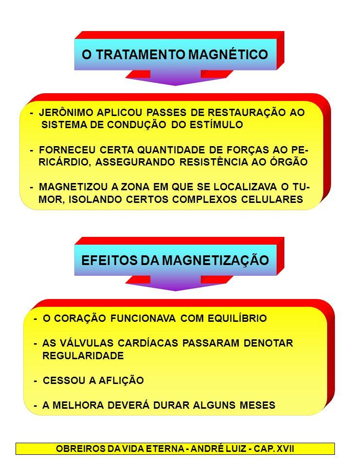 O TRATAMENTO MAGNÉTICO EFEITOS DA MAGNETIZAÇÃO
