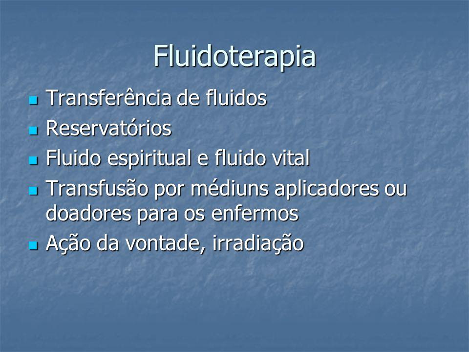 Fluidoterapia Transferência de fluidos Reservatórios