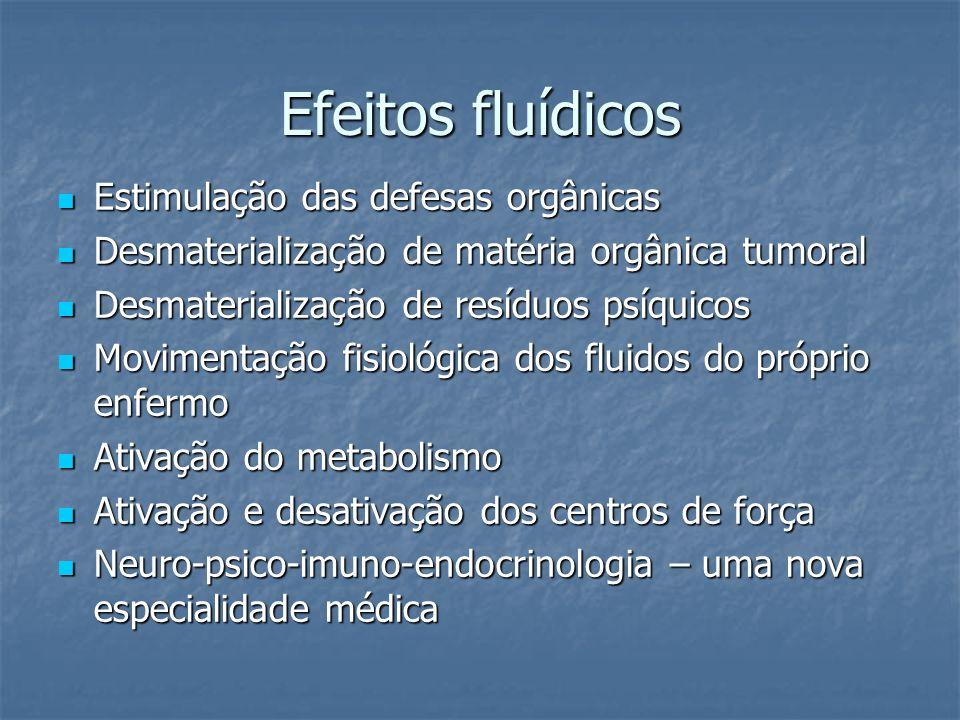 Efeitos fluídicos Estimulação das defesas orgânicas