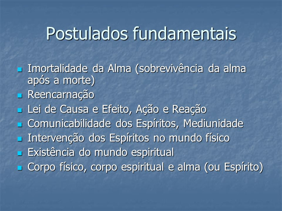 Postulados fundamentais