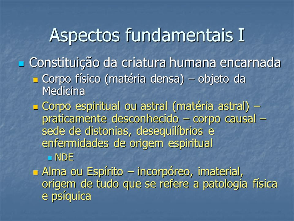 Aspectos fundamentais I