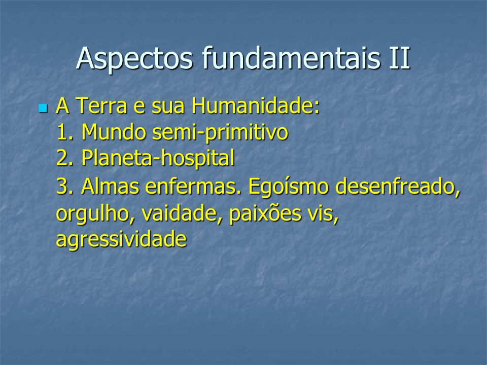 Aspectos fundamentais II