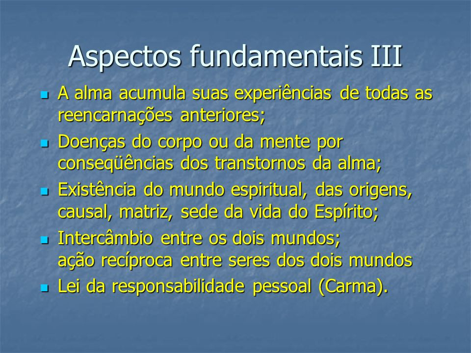 Aspectos fundamentais III