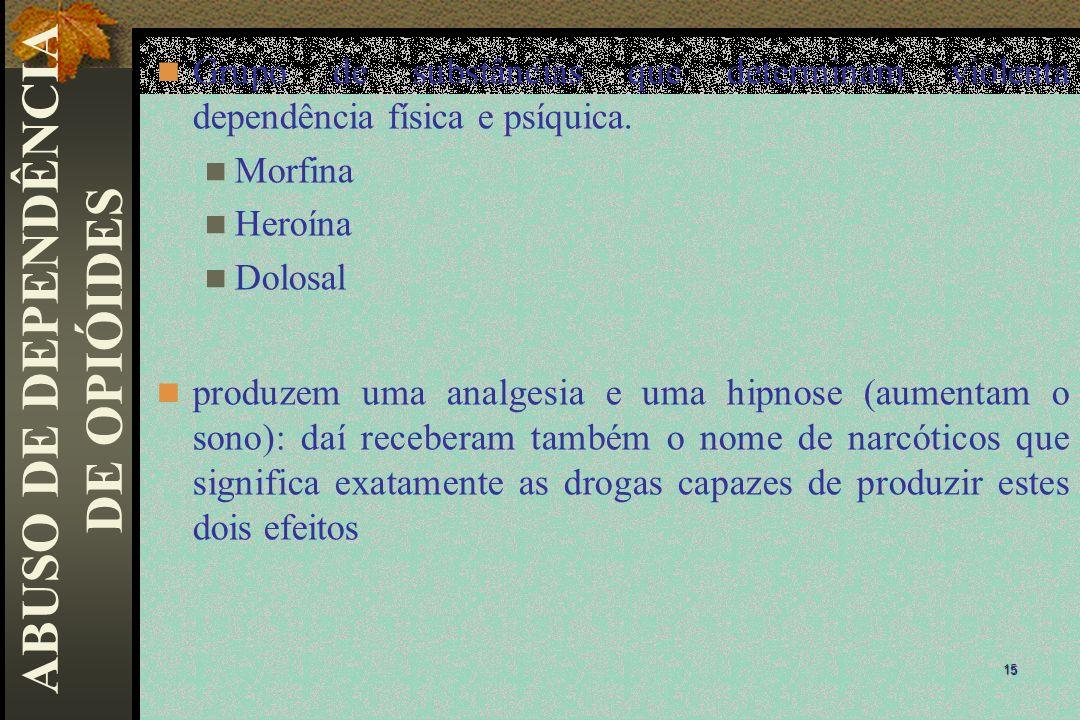 ABUSO DE DEPENDÊNCIA DE OPIÓIDES