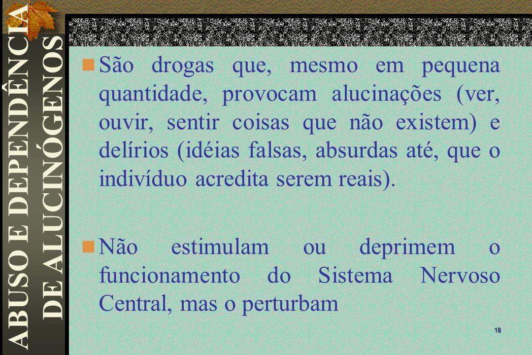 ABUSO E DEPENDÊNCIA DE ALUCINÓGENOS