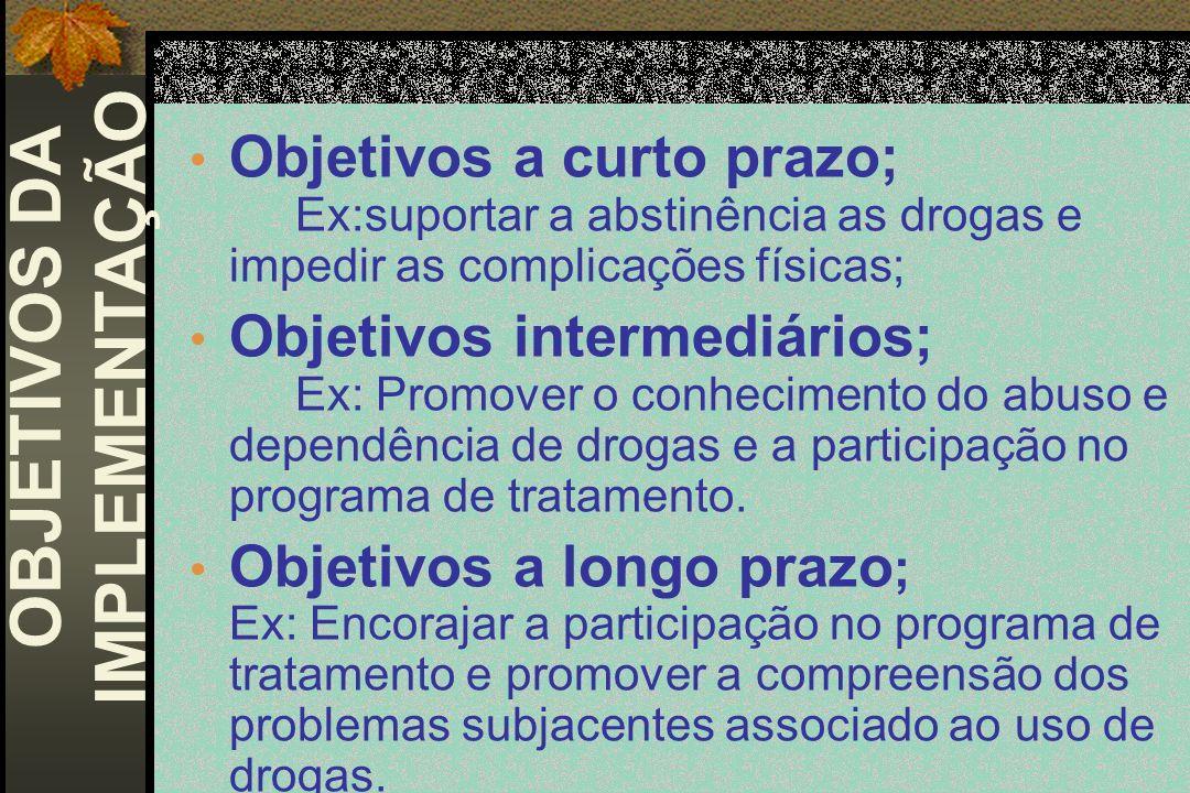 OBJETIVOS DA IMPLEMENTAÇÃO