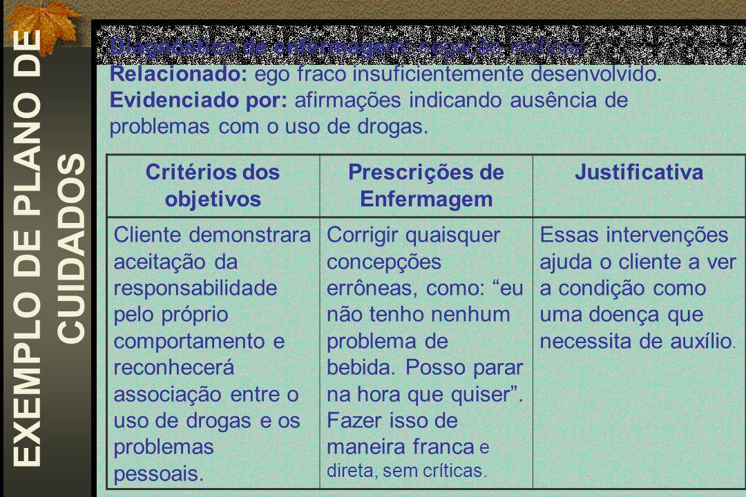 EXEMPLO DE PLANO DE CUIDADOS