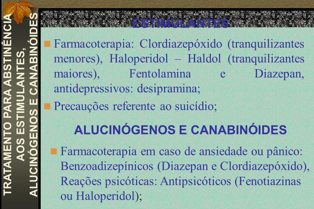 ALUCINÓGENOS E CANABINÓIDES