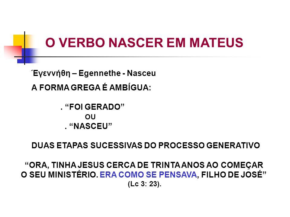 O VERBO NASCER EM MATEUS