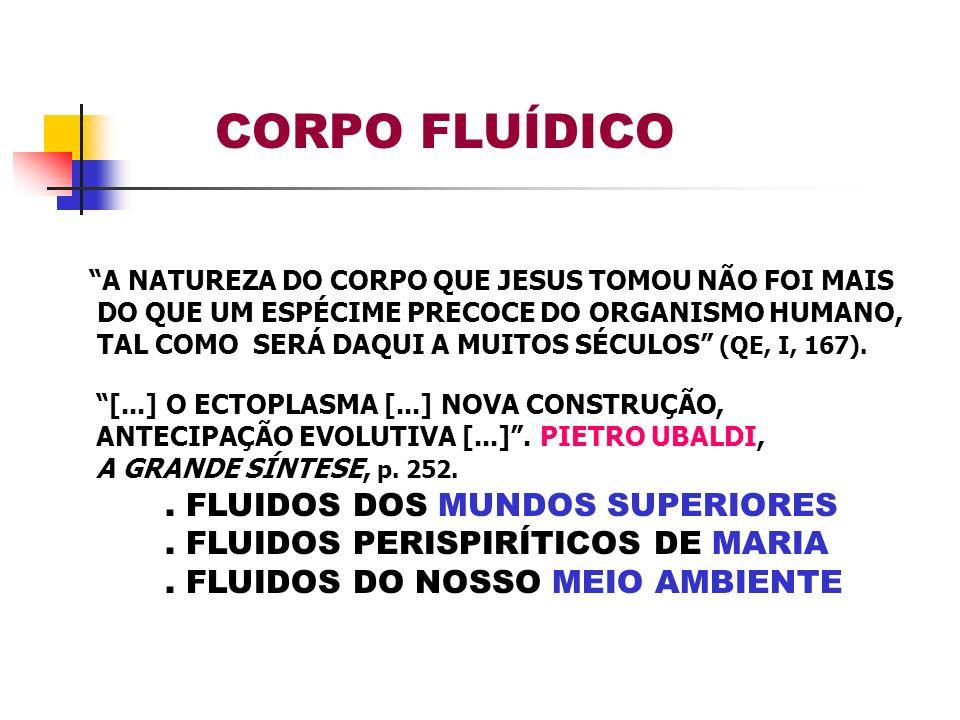 CORPO FLUÍDICO . FLUIDOS DOS MUNDOS SUPERIORES