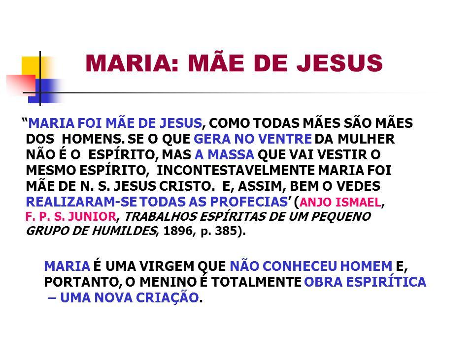MARIA: MÃE DE JESUS MARIA FOI MÃE DE JESUS, COMO TODAS MÃES SÃO MÃES