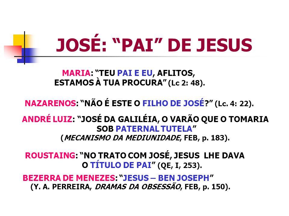 JOSÉ: PAI DE JESUS MARIA: TEU PAI E EU, AFLITOS,