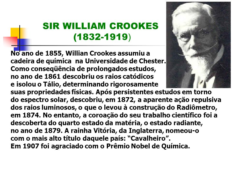 SIR WILLIAM CROOKES (1832-1919)