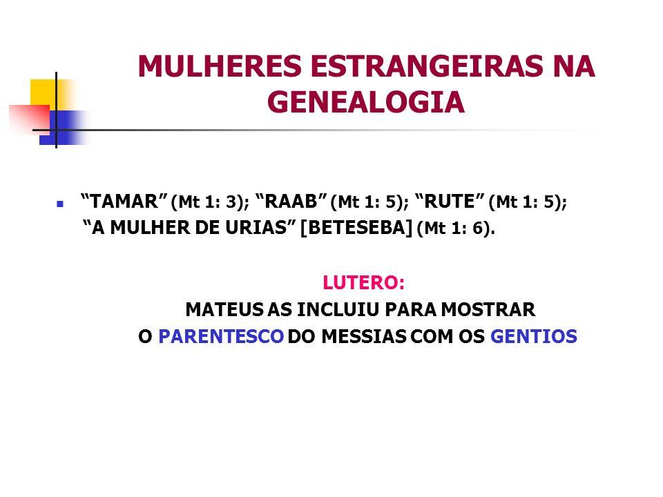 MULHERES ESTRANGEIRAS NA GENEALOGIA