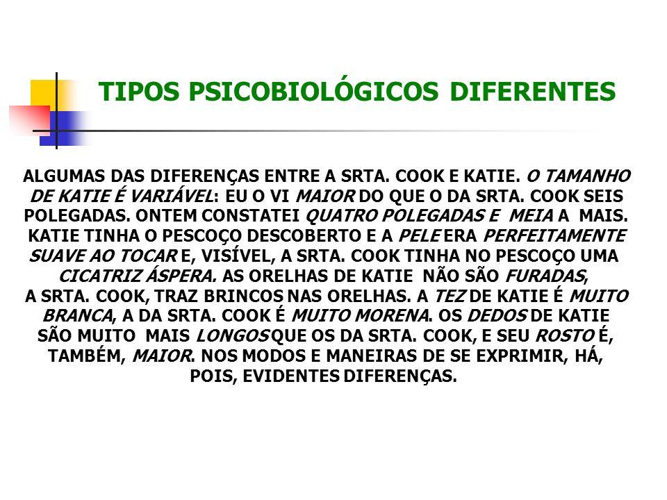 TIPOS PSICOBIOLÓGICOS DIFERENTES