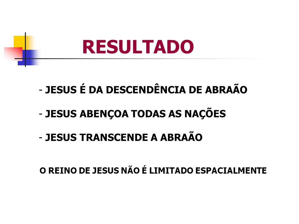 RESULTADO JESUS É DA DESCENDÊNCIA DE ABRAÃO