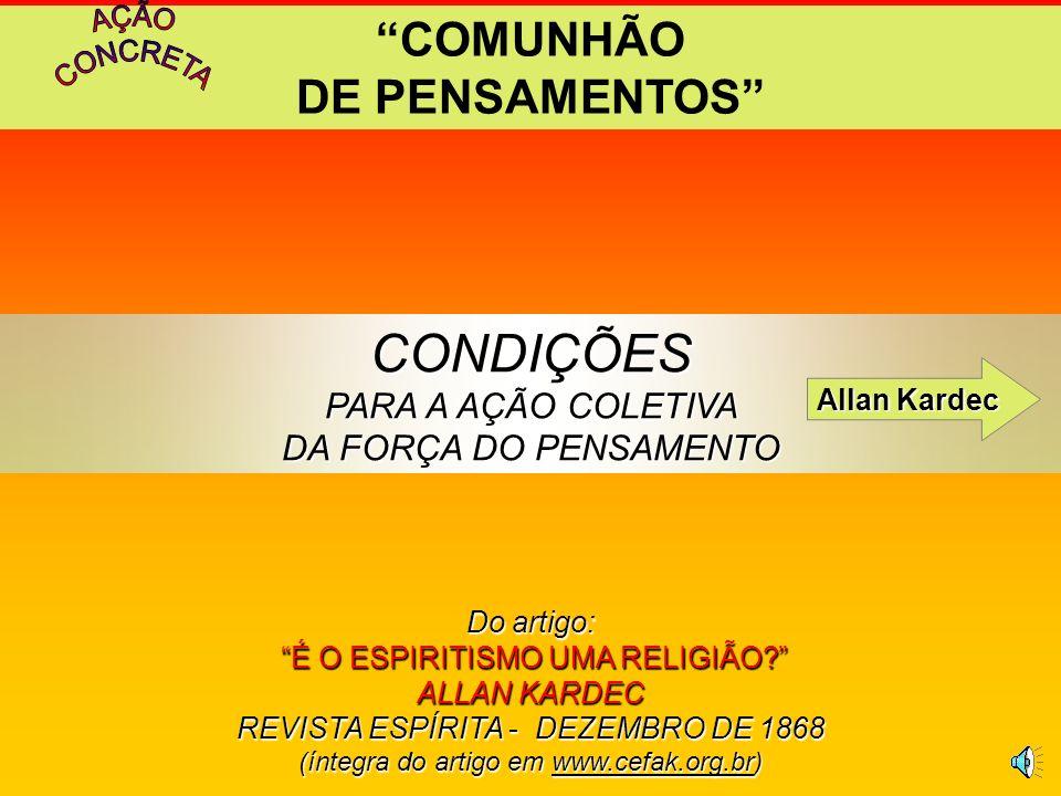 COMUNHÃO DE PENSAMENTOS