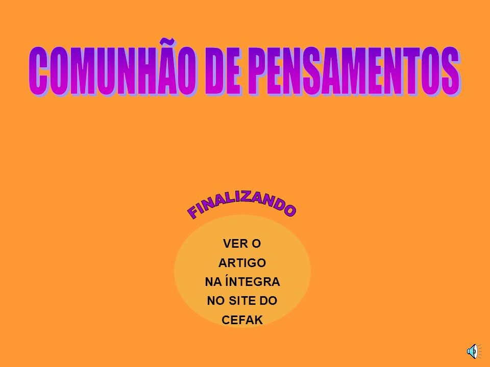 VER O ARTIGO NA ÍNTEGRA NO SITE DO CEFAK