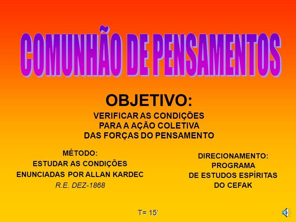 DIRECIONAMENTO: PROGRAMA DE ESTUDOS ESPÍRITAS DO CEFAK