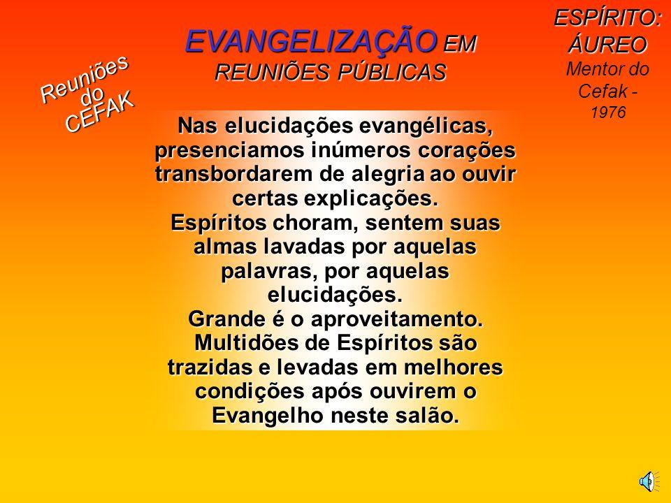 EVANGELIZAÇÃO EM REUNIÕES PÚBLICAS