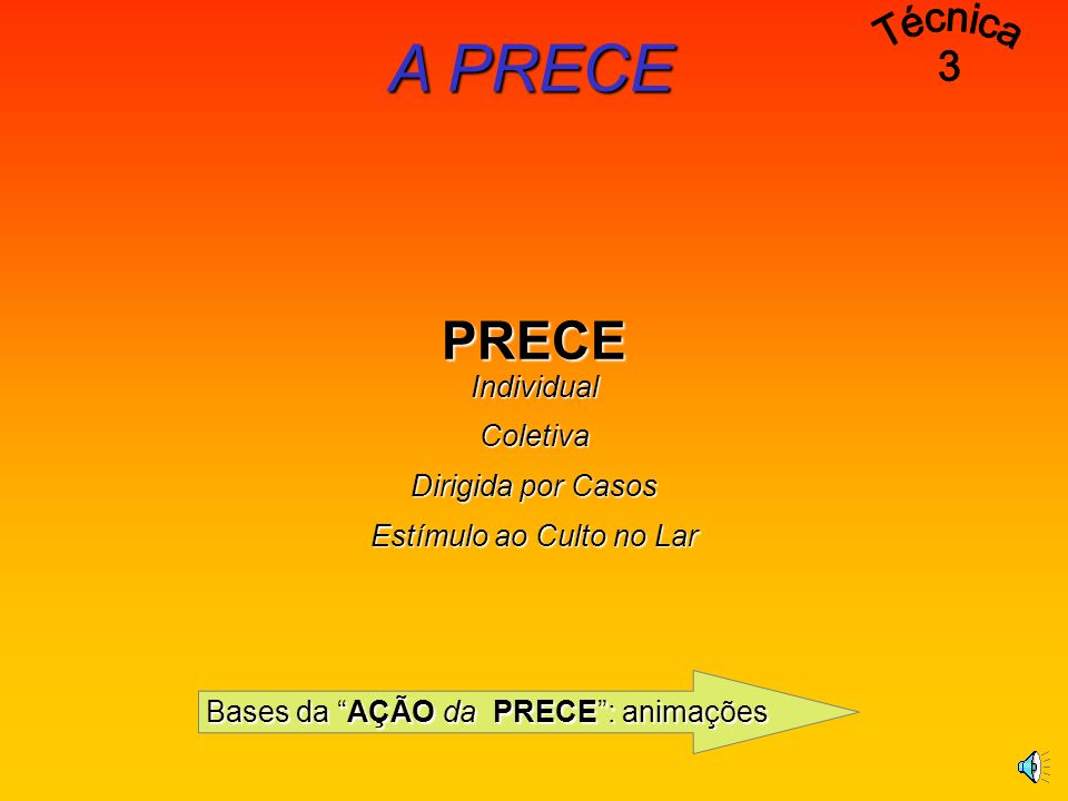 A PRECE Técnica 3 PRECE Individual Coletiva Dirigida por Casos