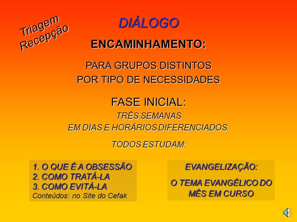 DIÁLOGO Triagem Recepção ENCAMINHAMENTO: