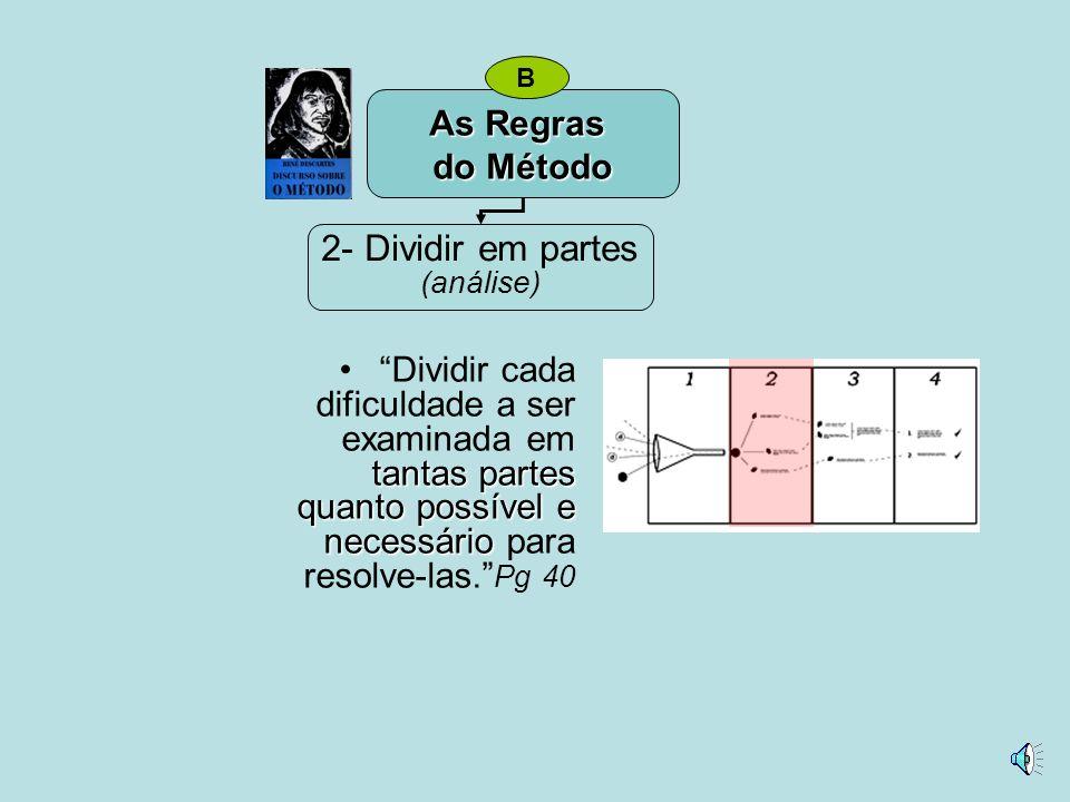 2- Dividir em partes As Regras do Método