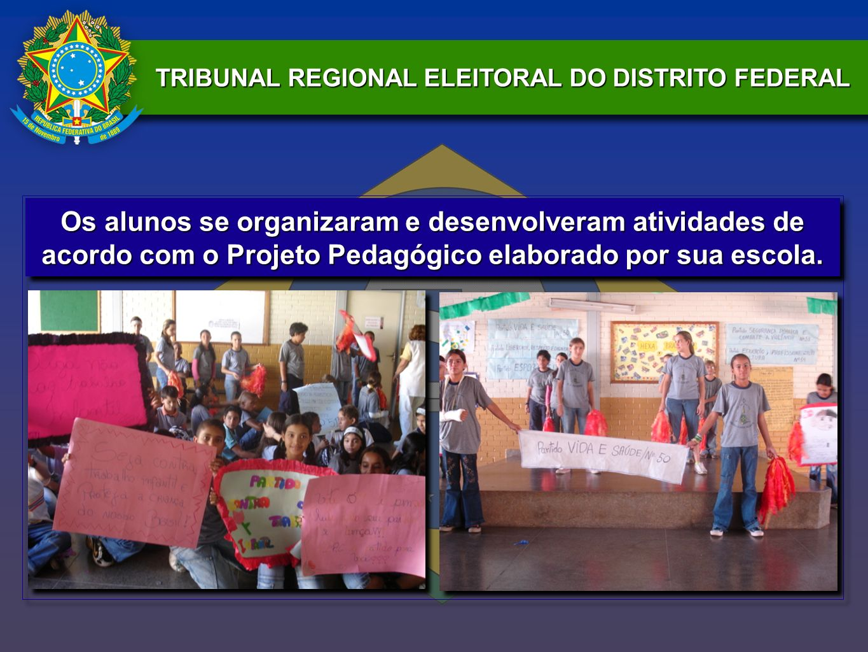 Os alunos se organizaram e desenvolveram atividades de acordo com o Projeto Pedagógico elaborado por sua escola.