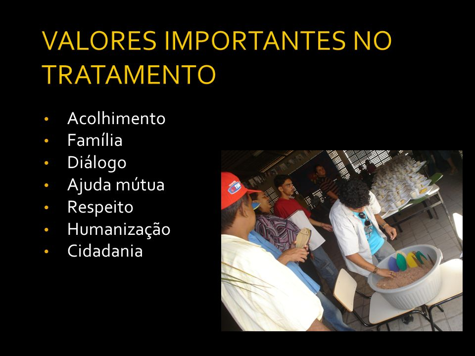 VALORES IMPORTANTES NO TRATAMENTO